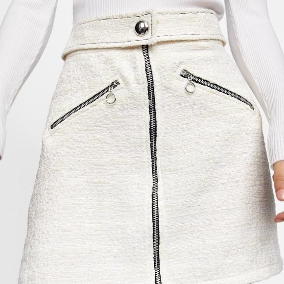 Zara Dresses & Skirts - TWEED MINI SKIRT